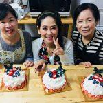 仲良し3人のクリスマスドームケーキ!!