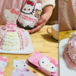 キュートなピンクのドレス(ドール)ケーキ♡