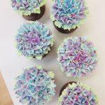 涼しげ紫陽花のカップケーキ★