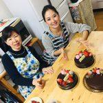 チョコとベリーの2層ムースケーキ♡グラサージュ掛け★