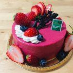 春を先取り♡ラズベリーとホワイトチョコのムースケーキ♪