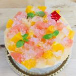 ジュレがきらめく★初夏の柑橘レアチーズケーキ!