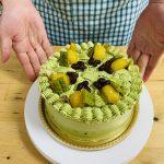 抹茶と和素材のデコレーションケーキ♪